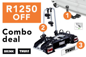 Towbar + 2-Bike Rack Combo Deal - FREE fitment SAVE R1250
